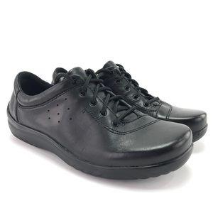 Klogs Women's Pisa Black Leather Sneakers Size 7 M